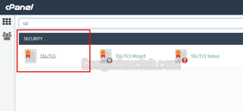 1 cpanelde SSL TLS menüsüne tıklayınız