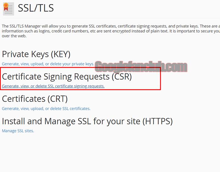 Certificate Signing Request (CSR)