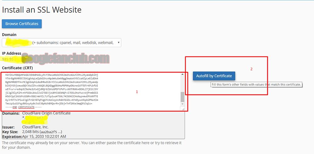 install a SSL website